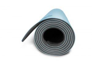 Yoga Mat - Light Blue (side view)