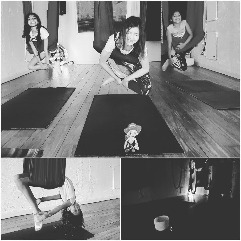 🦄🦁🦋🦜 limitless imagination  🐒🐯🦖🕊 #aerialkids classes with @gracehanapark every Tuesday & Friday . . . .  #austinyogacommunity #yingyoga #yinyang #atx #austinyoga #cedarpark #keepitlocal #nonfussy #movementismedicine #kidsyoga #practice #요가 #selflove #downdog #sunsalutation #ashtanga #hatha #breathe #inhale #exhale #love #peace #keepaustinfit #kidsofinstagram #flyyoga #beherenow #littleyogis #yinyang #aerialyoga #kidsaerialyoga #flyyoga