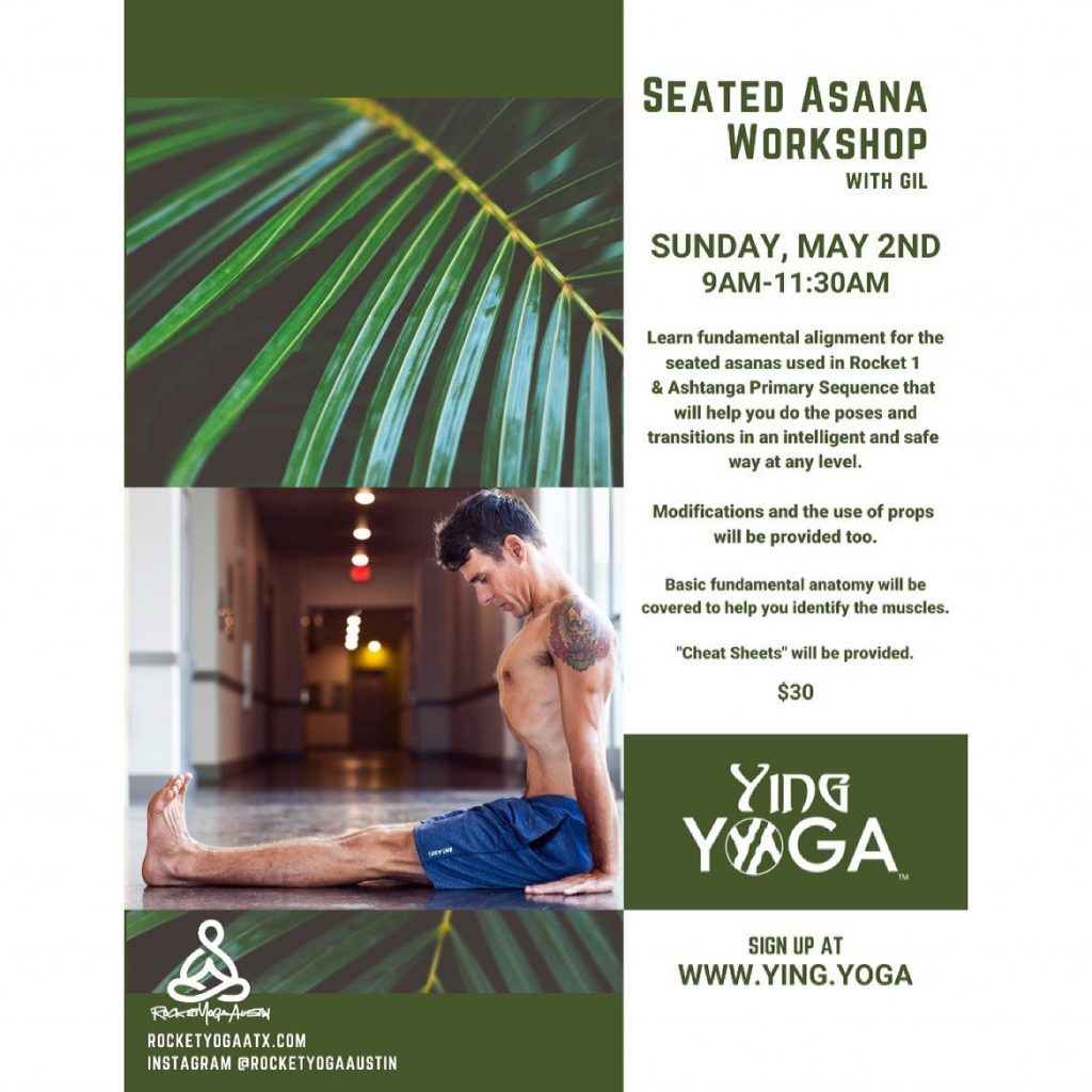 ⚡️@rocketyogaaustin Gil is offering the opportunity to understand more about seated asanas in an upcoming workshop this Sunday, May 2nd. Sign up today!!!🌿🌿🌿 . . . .  #freedom #yingyoga #yinyang #atx #cedarpark #keepitlocal #nonfussy #movementismedicine #asana #practice #rocknroll #selflove #soundbath #sunsalutation #ashtanga #hatha #breathe #inhale #exhale #love #peace #keepaustinfit #community #flyyoga #allwelcomed #beherenow #rocketyoga #yoga #austinyoga #love #ashtanga @yoga4destruction